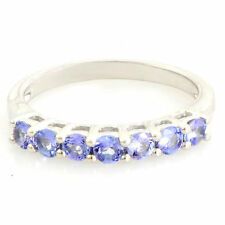 TANZANITE NATURAL GEMSTONE RING IN 925 STERLING SILVER JEWELRY
