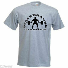 POWERHAUSE GYM  Lots of Colours T SHIRT Golds Powerhouse Worlds  Bodybuilder MAN
