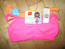 HANES FLEX to FIT GIRLS STRETCH SEAMLESS BRA ~2 PACK~