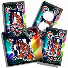 DETROIT TIGERS MLB BASEBALL LOGO LIGHT SWITCH OUTLET COVER WALL PLATE MEN CAVE