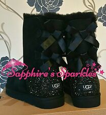 Adult Black Bailey Bow Ugg Boots Sizes 4 5 6 7 8