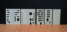 Office/Commercial City BUILDING FACADES,Architectural Model Kit, scale 1:200