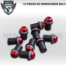 M5 5MM WINDSCREEN BOLTS CNC MOTO BIKE WINDSHIELD SCREW MOUNTING NUTS KIT FAIRING