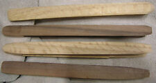 SET OF 2 OAK, WALNUT OR CHERRY WOOD / WOODEN TOAST / BAGEL TONGS  HAND MADE  USA
