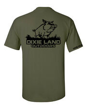 Dixie Land Outdoors Hog Hunter t shirt,hog hunting southern,country,feral,pig