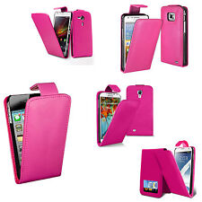 PINK Vertical Leather Flip cover for Multiple Models Apple Sony Htc Etc