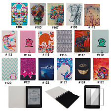Cute Flip Case Cover + Screen Protector For Amazon Kindle Paperwhite 1 2&3G Wifi