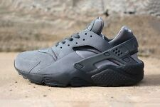 2014 ORIGINAL OG NIKE AIR HUARACHE COOL GREY TRIPLE BLACK ANTHRACITE 318429 082