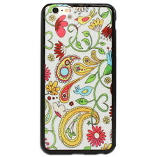 NEW Paisley with Bird Printed Hard Back Case Cover for Apple iPhone 5C 6 6S plus