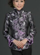 Burgundy Chinese women's silk/Satin  jacket coat Cheongsam Sz:S,M L XL2XL3XL