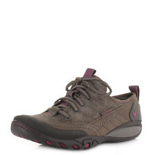 Womens Merrell Mimosa Lace Stone Lace Up Suede Leather Walking Shoes Size