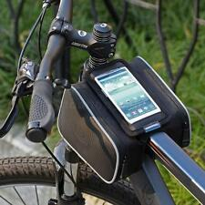 """MTB Cycling Bike Bicycle Front Frame Pannier Tube Bag Pouch for 5.5"""" Cellphone"""
