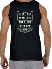 If You Can Read This, The Bitch Fell Off Biker Rt 66 MEN'S TANK TOP S M LG XL 2X