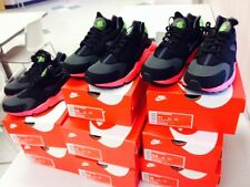 NIKE AIR HUARACHE BLACK HYPERPUNCH YEEZY HYPER PUNCH 318429 006  UK SIZE 7-12