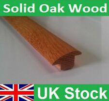 Quality Solid Oak Wood Floor to Carpet or Tiles Reducer Threshold 1 metre length