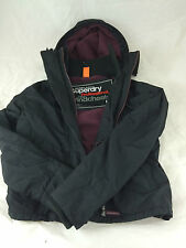 Superdry Windcheater Arctic Mens Hooded Jacket Black/Port RRP £75