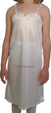 NWT Girls Adjustable A-Line Straight Slip with Lace Trim - Girls Full Slip