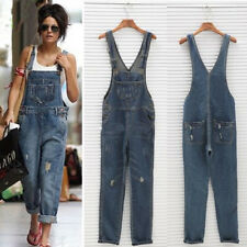 Celeb Womens Baggy Denim Jeans Full Length Pinafore Dungaree Overall Jumpsuit