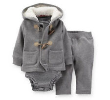 Carters Newborn Cardigan Bodysuit Pants Set Baby Boy Clothes Gray Warm