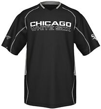 Chicago White Sox Majestic Men's Fast Action Jersey Black Big And Tall Sizes