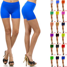 Women Stretch Casual Shorts Biker Exercise Yoga Workout Size XS,S,M,L Seamless