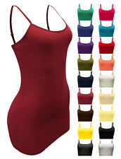 Tank Top Cami 2 for $12 Spaghetti Strap Long Length Shelf Bra Layering Shirt New