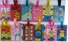 Luggage Labels Tags Suitcase Frozen Despicable Me Minion Holiday 11 designs NEW