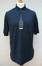 Mens Greg Norman Play Dry Golf Polo Shirt Top Short Sleeve Moisture Wicking Blue