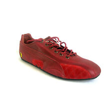 MENS RED LEATHER LACE UP ' FERARRI '  PUMA TRAINERS