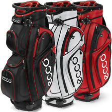ECCO GOLF CART BAG WITH 9 POCKETS AND 14 WAY DIVIDER RRP £180 (RED BLACK WHITE)