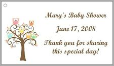 Personalized OWLS Baby Shower Favor Labels - Several Designs