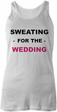 Sweating For The Wedding Printed Vest Tank Top | Girls Womens | Bride Marriage