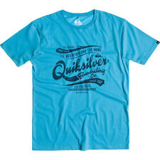 Quiksilver Barber Shop Classic Mens T-shirt Blue All Sizes