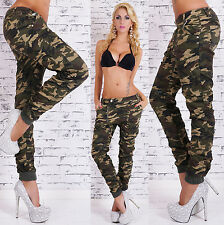 Hot Women's camouflage Pants Hipsters Jeans Boyfriend  Harem Baggy Trousers 6-14