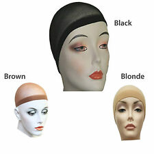 2x Wig Cap Breathable stretchable stocking Cap in one size Unisex Wig Cap