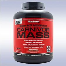 MUSCLEMEDS CARNIVOR MASS (5.6 LB - 6.0 LB, 14 SVGS) anabolic beef gainer protein