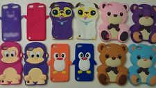 Cute 3D Cartoon Animal Soft Silicone Case Cover For Apple iPod touch 5