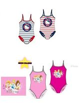 DISNEY PRINCESS & HELLO KITTY SWIMMING COSTUME PINK RED BLUE  AGE 2-8 Y BNWT