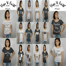 Hope & Faith Womens Boyfriend Short Sleeve Tumblr T Shirt 27th Saint Shop Ladies