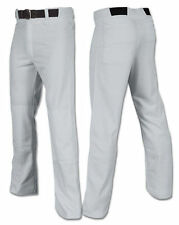 Champro Open Bottom Relaxed Full Length Baseball Pants -Wht or Grey Yth or Adult