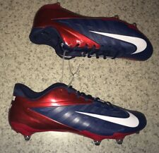 New Mens 13 NIKE Zoom Vapor Pro Low D Navy Blue Red Detachable Football Cleats