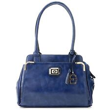 Ellen Tracy Zip Top Multi Compartment Lock Detailed Tote NWT Retail $79