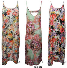 FLORAL LIGHT & COOL SUMMER MAXI DRESSES WITH LONG BACK. SIZE 8,10,12,14,16.