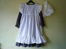 VICTORIAN COSTUME Dress and apron / Pinafore and mop hat all sizes custom made