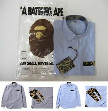 A BATHING APE Men's 1ST CAMO PATCH OXFOR BD SHIRT 2 Colors From Japan New