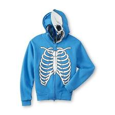 FSD Boy's Costume Hoodie Jacket Skeleton Built-in Face Mask 4 S, 5/6 M, 7 L NWT