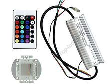 60W RGB High Power LED Light +60 Watt  Driver + Remote Controller for Decoration