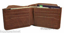 iLi Mens RFID Blocking Leather Billfold Wallet w/ Hidden Cash Pocket 7726