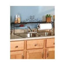Bronze Kitchen Organizer Over Sink Shelf Towel Holder Corner Shelves Basket Tool