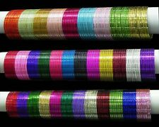 Indian Bollywood Jewelry Trendy Plain Bangle bracelet set of 12 Color Bangles